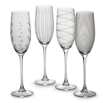 Buy unique champagne flutes from bed bath beyond - Unusual champagne flutes ...