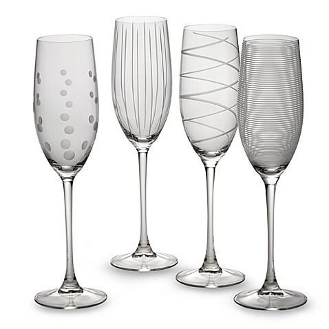Mikasa® Cheers 8 oz.Toasting Flutes (Set of 4)