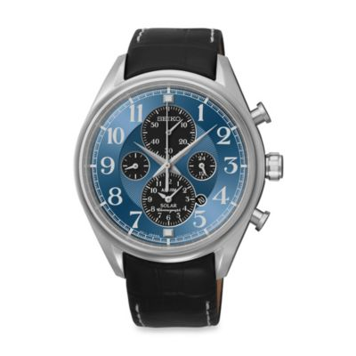 Seiko Men's Dress Solar Alarm Chronograph