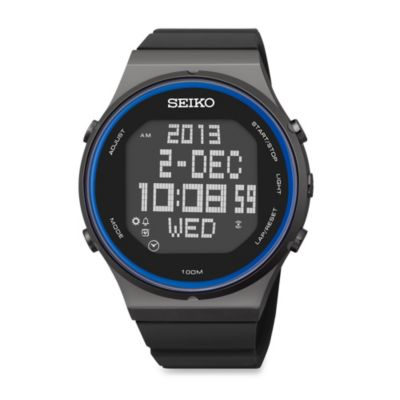 Seiko Men's Matrix Digital Watch with Blue Accents