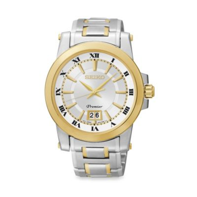 Seiko Men's Premier Two-Tone Watch