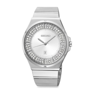 Seiko Ladies Pulsar Matrix Stainless Steel Watch with Swarovski Crystals