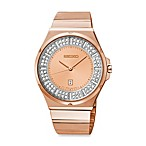 Seiko Ladies Pulsar Matrix Rose Goldtone Watch with Swarovski Crystals