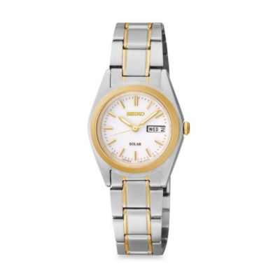 Seiko Ladies Solar Watch with Date/Day Display