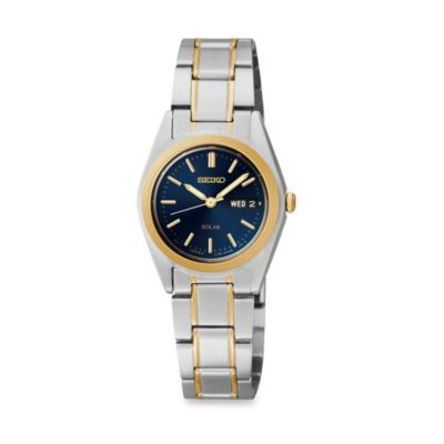 Seiko Ladies Stainless Steel Pulsar Functional Solar Watch