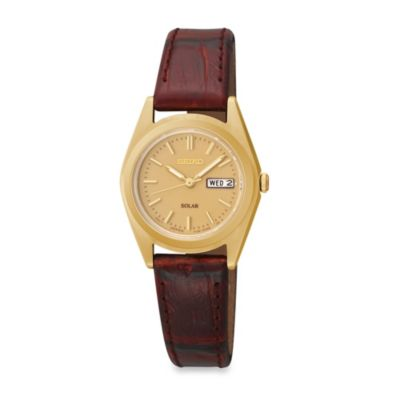 Seiko Ladies Pulsar Functional Solar Watch with Leather Band