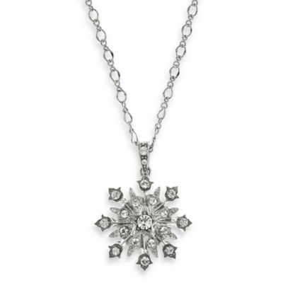 Downton Abbey® Silver-Tone Starburst Pendant Necklace