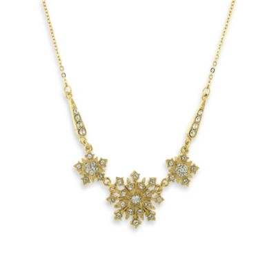 Downton Abbey® Gold-Tone Crystal Statement Necklace