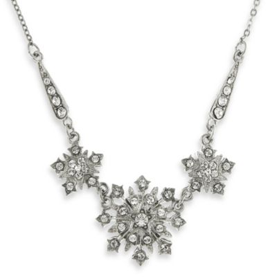 Downton Abbey® Silver-Tone Crystal Starburst Statement Necklace