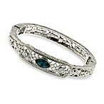 Downton Abbey® Silver Tone Montana Sapphire-Blue Crystal Stretch Bracelet