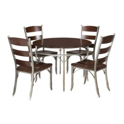 Home Styles Bordeaux Espresso 5-Piece Dining Set