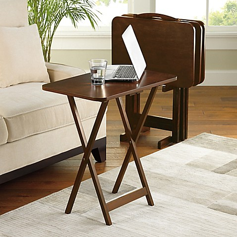 Buy Hamilton 5 Piece Snack Tray Table Set From Bed Bath