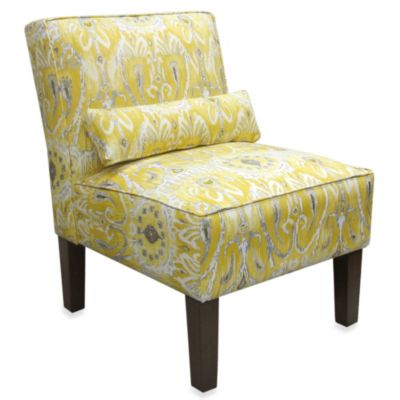 Skyline Furniture Armless Chair in Alessandra Lemon