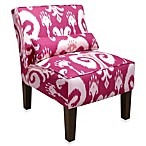 Skyline Furniture Armless Chair in Himalaya Raspberry