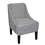 Skyline Furniture Swoop Arm Chair in Berne Black