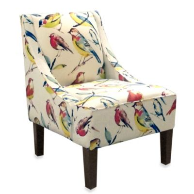 Skyline Furniture Swoop Arm Chair in Bird Watcher Summer
