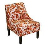 Skyline Furniture Swoop Arm Chair in Canary Tangerine