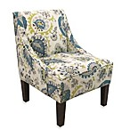 Skyline Furniture Swoop Arm Chair in Ladbroke Peacock