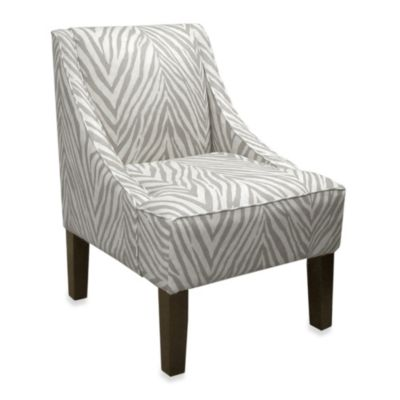 Skyline Furniture Swoop Arm Chair in Sudan Graphite