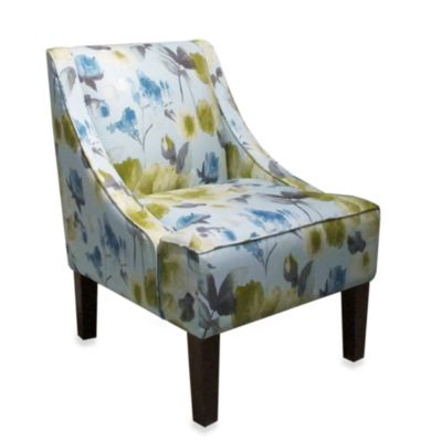 Skyline Furniture Swoop Arm Chair in Rosie Lime