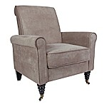 angelo:HOME Harlow Parisian Velvet Chair in Tan/Grey