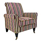 angelo:HOME Harlow Modern Vintage Stripe Chair in Plum/Green