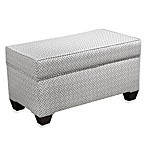 Skyline Furniture Storage Bench in Cross Section Charcoal