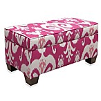 Skyline Furniture Storage Bench in Himalaya Raspberry