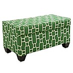 Skyline Furniture Storage Bench in Mandarin Emerald