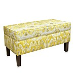 Skyline Furniture Storage Bench in Alessandra Lemon