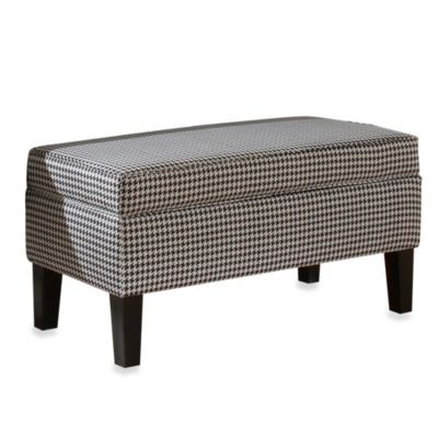 Skyline Furniture Lift-Top Storage Bench in Berne Black