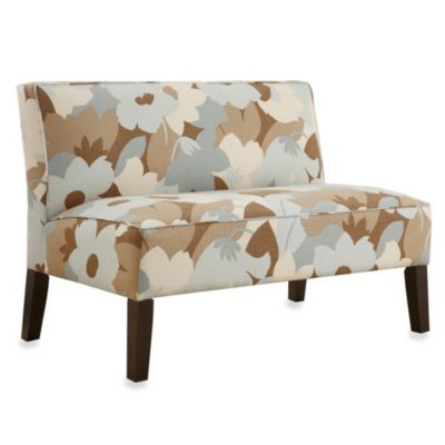 Skyline Furniture Armless Love Seat in Espirt Seaglass