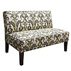Skyline Furniture Armless Love Seat in Marrakesh Graphite