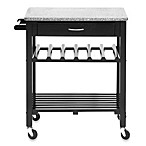 Quebec Modern Kitchen Island Cart in Black