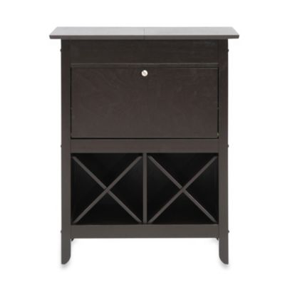 Tuscany Modern Dry Bar and Wine Cabinet in Brown