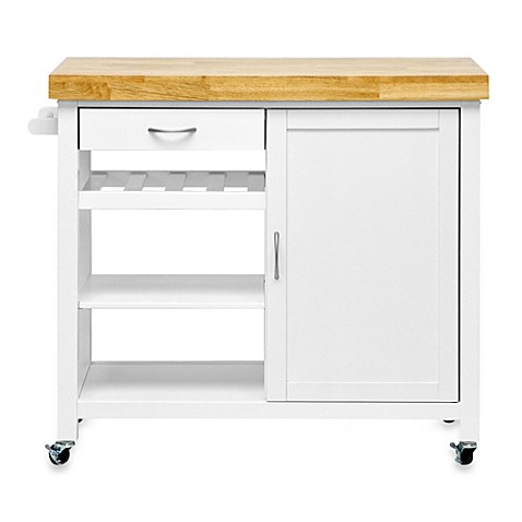 baxton studio denver modern kitchen cart
