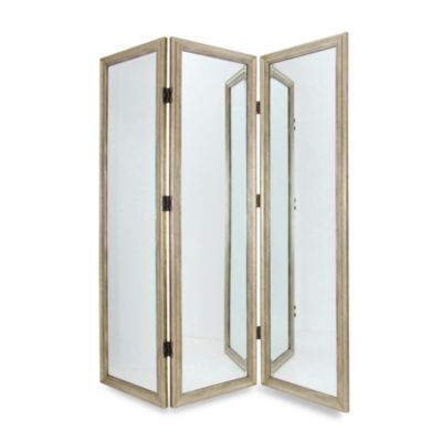 Full-Size 3-Panel Dressing Mirror Screen