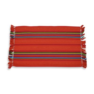 OLE! Rib Stripe Reversible Placemat - 100% Cotton