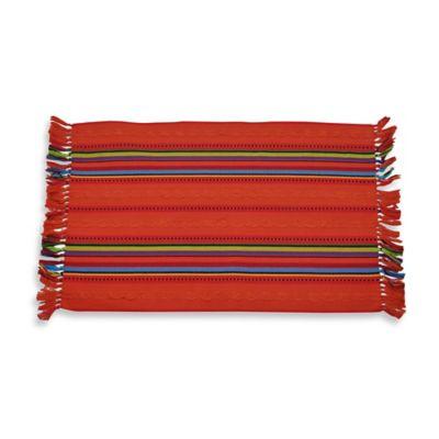 OLE! Rib Stripe Reversible Placemat - 100% Cotton