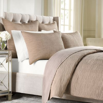 Wamsutta® Serenity Quilted Standard Pillow Sham in Copper