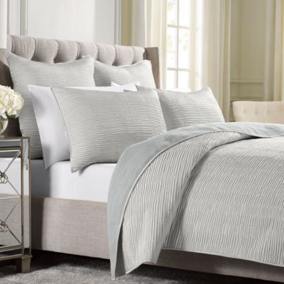 Wamsutta® Serenity Twin Quilted Coverlet in Silver