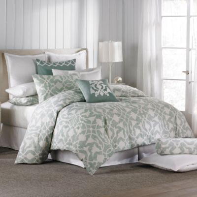 Barbara Barry® Poetical Duvet Cover in Celadon