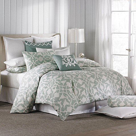 Buy Barbara Barry 174 Poetical Duvet Cover In Celadon From