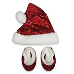 So 'dorable Santa Fur Hat and Bootie Set