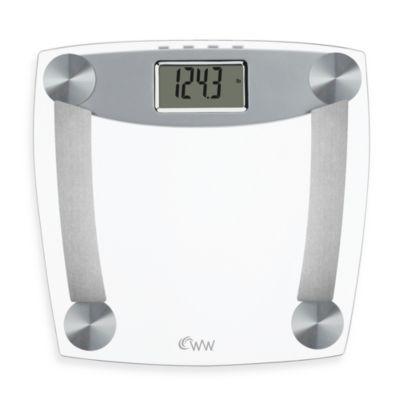 Weight Watchers® Glass Body Analysis Bathroom Scale by Conair™ with Muscle Mass