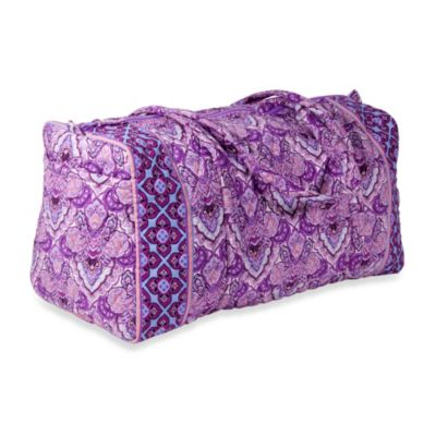 Home Essentials Quilted Emily Duffel Bag in Purple