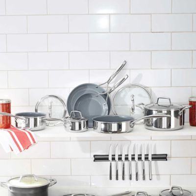 ZWILLING® Energy 10-Piece Ceramic-Coated Stainless Steel Cookware Set