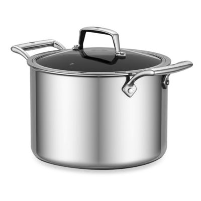 ZWILLING® Energy 8-Quart Ceramic-Coated Stainless Steel Covered Stockpot