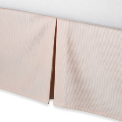 Real Simple® Linear Twin Bed Skirt in Peach