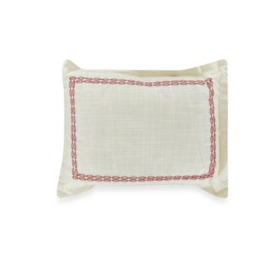 Tommy Bahama® Trellis Oblong Toss Pillow in Ivory Crimson